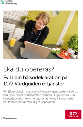 Hälsodeklaration – operation – affisch